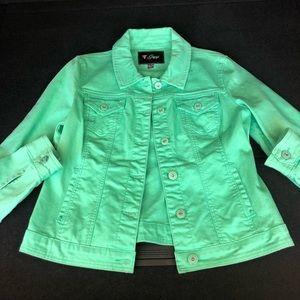 Vintage Guess jeans green denim jacket size xl